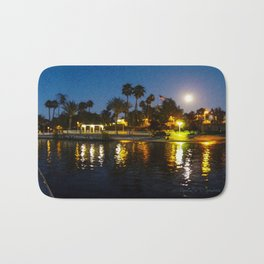 Full Moon Sunset on Canyon Lake Bath Mat