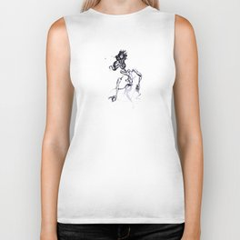 Stretching to Pieces Biker Tank