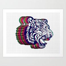 3D Tiger Art Print
