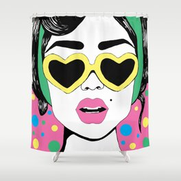 Heart Eyes 2 Shower Curtain