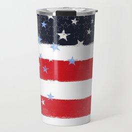 Patriotic Grunge Stars and Stripes Travel Mug
