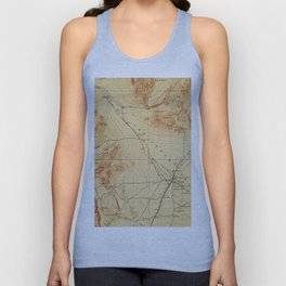 Vintage Map of The Las Vegas Valley NV (1907) Unisex Tank Top