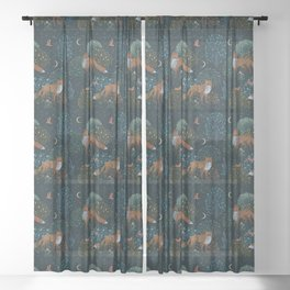 Forest Foxes Sheer Curtain
