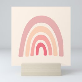 Rainbow Shape Abstraction Mini Art Print