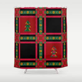 Christmas. Patchwork . Shower Curtain