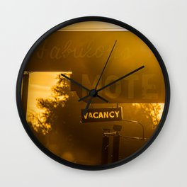 Fabulous Motel Wall Clock