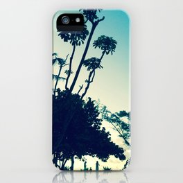 Look at the silhouette of the tree against the evening sky! iPhone Case