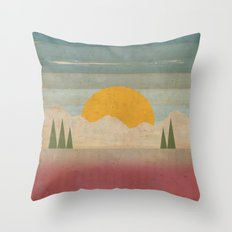 Day in the Forest Throw Pillow