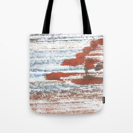 Orange blue marble wash drawing Tote Bag