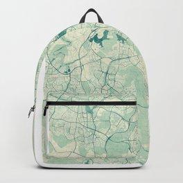 Canberra Map Blue Vintage Backpack