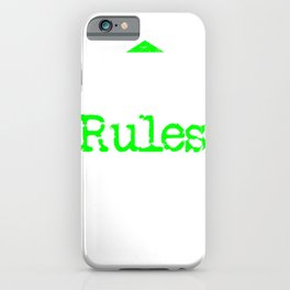 Got no Rules | Big and bold Neon iPhone Case