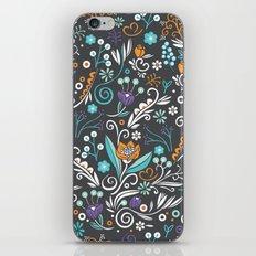 Flower circle pattern, brown iPhone & iPod Skin