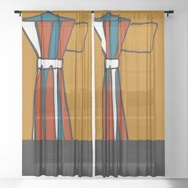Beloved moka Sheer Curtain
