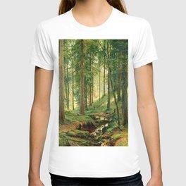 "Ivan Shishkin ""Stream in the Forest (On the Hillside)"" T-shirt"