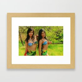 [ BIODIVERSE.CO ] Colombian Exotic Sexy Girls Framed Art Print