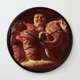Romanesque lovers IV Wall Clock
