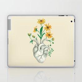 Floral Heart: Sunflower Human Anatomy Halloween Art Laptop & iPad Skin