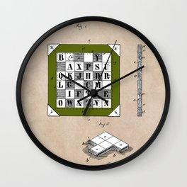 patent Kinsey Puzzle Blocks 1878 Wall Clock