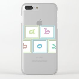 Gender Reveal - Baby Boy Spelling Blocks Clear iPhone Case