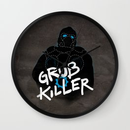 Grub Killer (Blue) Wall Clock