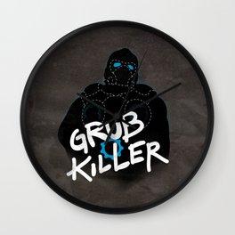 Grub Killer (Blue) Wall Clock