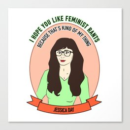 Jessica Day / New Girl Print Canvas Print