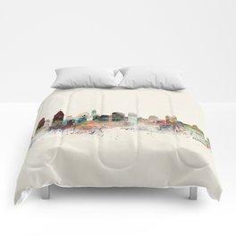 philadelphia pennsylvania skyline Comforters