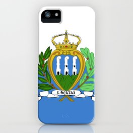 San Marino flag emblem iPhone Case