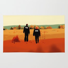 Mulder and Scully I want to believe poster Rug