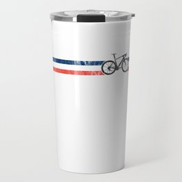French Cyclist Flag France Bike Racing Bicyclist Black Travel Mug