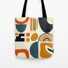 mid century shapes geometric abstract color 3 Tote Bag