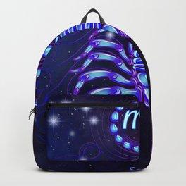 Zodiac neon signs — Scorpio Backpack