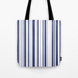 Minimalist Era - White & Indigo Blue Stripe Asymmetrical Tote Bag
