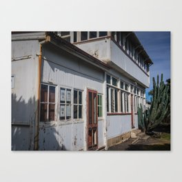 Weathered White Building Canvas Print