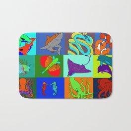 Sea Animals pop art Bath Mat