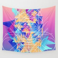 burger Wall Tapestries featuring Burger Lines by Danny Ivan