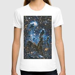 Pillars Of Creation Nebula, Galaxy Background, Universe Large Print, Space Wall Art Decor T-shirt