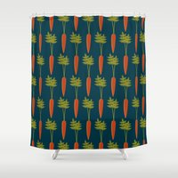 vegetable Shower Curtains featuring Vegetable Medley by Veronica Galbraith