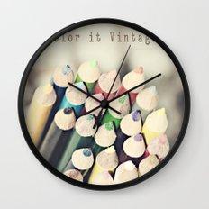Color it Vintage Wall Clock