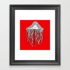 red jelly square Framed Art Print