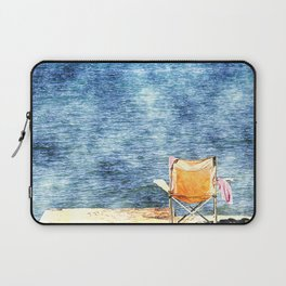 Summer holiday relaxing in the sun, digital art watercolor Laptop Sleeve