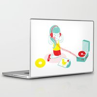 vinyl Laptop & iPad Skins featuring Vinyl by Samantha Eynon
