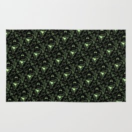 Cryptid Pattern: Green Lines Rug