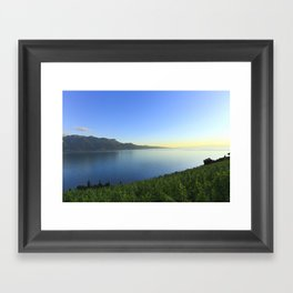 Sunset and Winery Framed Art Print