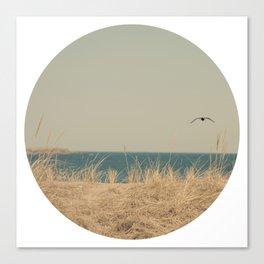 Tranquility Beach Ocean Seaside Neutral Fine Art Prints  Canvas Print