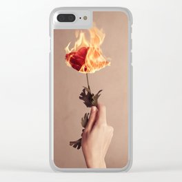 Wild Rose Clear iPhone Case
