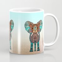 earth Mugs featuring ElePHANT by Monika Strigel