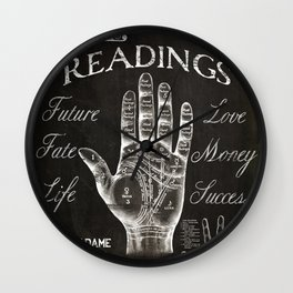 Vintage Palmistry Sign Wall Clock