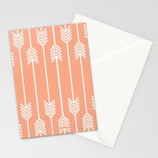 Peach and White Arrows /// www.pencilmeinstationery.com Stationery Cards