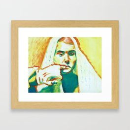 The Franciscan Padre as Painted-Up Mary Framed Art Print